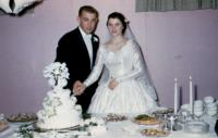 October 9, 1954. Barbara Jean (Lowing) Brink and Irwin Jay Brink Wedding