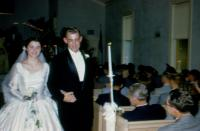 October 9, 1954. Barbara Jean (Lowing) Brink and Irwin Jay Brink Wedding.