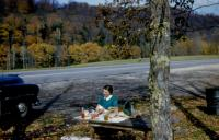 Oct. 1954. Woodstock, Vermont. Barbara Jean (Lowing) Brink and Irwin Jay Brink's Honeymoon.