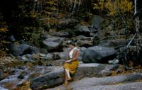 Oct.1954. Flume, Franconia Notch, New Hampshire. Barbara Jean (Lowing) Brink and Irwin Jay Brink's Honeymoon.