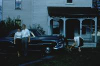 Oct. 1954. Chatham, New York. Barbara Jean (Lowing) Brink and Irwin Jay Brink's Honeymoon. (Pastor) Bill and Libby Hillegonds House (Parsonage)