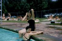 July, 1955. Brown County, Indiana. Barbara Jean (Lowing) Brink with Joan Smith on vacation during stay in Urbana.