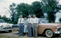1956. left to right : Kenneth Dale Brink, Jennie (Elzinga) Brink (Mom), John Herbert Brink (Dad), Irwin Jay Brink in Missouri