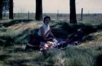 August, 1959. University of Iowa - Lunch, Route 175, Iowa, Barbara Jean (Lowing) Brink