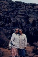 1960. Medicine Bow, Wyoming.  Gladys (De Neff) Hubbard, Doris (De Neff) Lowing (Mom)