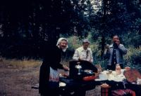1960. Black Hills South Dakota, (Aunt) Gladys (De Neff) Hubbard, Doris (De Neff) Lowing (Mom), Harold Crandal Lowing (Dad)