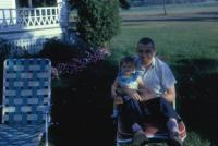 1962. Irwin Jay Brink with Jeanne Marie Brink at the Harold C. Lowing Farm - 3695 Bauer road, Jenison, Michigan (Summer)