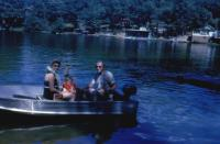 Sept. 1962. Barbara Jean (Lowing) Brink, Jeanne Marie Brink and Irwin Jay Brink at Pickeral Lake.