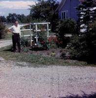 1963. Harold Crandal Lowing (Dad) at Harold C. Lowing Farm - 3695 Bauer road, Jenison, Michigan