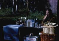 August, 1964. Irwin Jay Brink. Breakfast - Rainbow Falls Provincial Park, Ontario.
