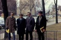 1969. From left to right : Wendall Wieringa, Charles Lieder, Irwin Jay Brink, Steve Havlicek. (from Dr. Westrum) while on Sabbatical at the University of Michigan in Ann Arbor.