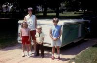 1969. Anne Renee Brink, Barbara Jean (Lowing) Brink, Robert Lowing Brink, Jeanne Marie Brink - Summer 1969