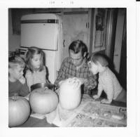 Halloween 1969. Irwin Jay Brink Residence - 721 Lugers road, Holland, Michigan.Robert Lowing Brink, Anne Renee Brink, Irwin Jay Brink, Mary Lynne Brink