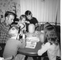 Halloween 1969. Irwin Jay Brink Residence - 721 Lugers road, Holland, Michigan, Robert Lowing Brink, Irwin Jay Brink, Mary Lynne Brink, Jeanne Marie Brink, Anne Renee Brink