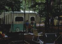 July, 1970. Camping at Interlochen State Park. Jeanne Marie Brink, Mary Lynne Brink, Anne Renee Brink