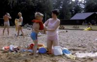 July, 1970. Interlochen Beach - Duck Lake. Robert Lowing Brink and Barbara Jean (Lowing) Brink