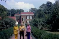 1972. Back of Stephen Foster Home - Kentucky 1972. ?, ?, (Cora) Doris (De Neff) Lowing (Mom)
