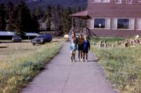 July, 1972. Howard Hall, Y camp of the Rockies (Estes Park, Colorado) - Family Festival. July 21-24. Jeanne Marie Brink, Mary Lynne Brink, Anne Renee Brink, Robert Lowing Brink