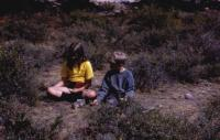 July, 1972. Jeanne Marie Brink and Phillip Tanis. Moraine Park Campground (Rocky Mountain National Park, Colorado)