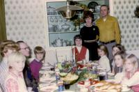 "Christmas - Dec 22, 1972 - Ken & Janey's. (Cousin) James ""Jim"" Lee Brink, (Cousin) Douglas Jay Brink, John Herbert Brink (Dad), Robert Lowing Brink, Barbara Jean (Lowing) Brink, Janice ""Janey"" (Hondre"