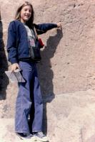Sept. 1975. Anne Renee Brink - petroglyphs - Tsankawi Ruins, Bandelier National Monument, New Mexico.