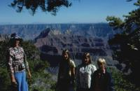 June, 1976. Grand Canyon (North Rim) - Barbara Jean (Lowing) Brink, Anne Renee Brink, Jeanne Marie Brink, Robert Lowing Brink