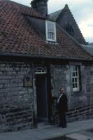 August, 1987. (Pastor) Willis Jones at Dunfermline, Scotland. Carnegie family home.