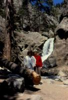 May, 1990. Mother's Day. Anne Renee Brink and Barbara Jean (Lowing) Brink at Boulder Falls, Colorado.