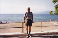 June, 1998. Irwin Jay Brink. Rest stop past Rivera on the Aegean.