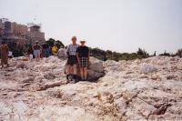 June, 1998. Athens, Greece (Areopagus) ; Irwin Jay Brink and Barbara Jean (Lowing) Brink. Where (the Apostle Paul) made a speech.