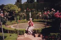May, 1999. Barbara Jean (Lowing) Brink at the Alhambra (Grenada, Spain)