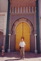 May, 1999. Irwin Jay Brink in front of the door of the royal palace (Fez, Morocco)