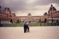 June, 1999. Barbara Jean (Lowing) Brink and Irwin Jay Brink at the Louvre (Paris, France)