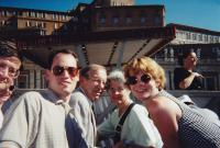 June, 1999. Rome, Italy. Waiting for the Pope. Irwin Jay Brink and Barbara Jean (Lowing) Brinkwith the Molhoeks.