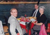 June, 2000. Bateaux Mouches (Paris, France). Irwin Jay Brink, Robert Lowing Brink, Barbara Jean (Lowing) Brink