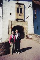 June, 2000. Barbara Jean (Lowing) Brink and Irwin Jay Brink. Entrance to Wartburg Castle (Germany) at the drawbridge.