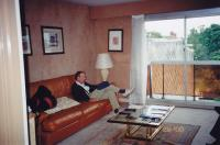 June, 2000. Irwin Jay Brink in the apartment living room of Robert Lowing Brink (Suresnes, France)
