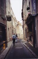 June, 2000. Irwin Jay Brink and Robert Lowing Brink walking through Chartres (France)