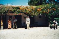 January, 2003. Irwin Jay Brink in front of the museum in Antigua (Guatemala)